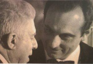 Leone Piccioni con Eugenio Montale