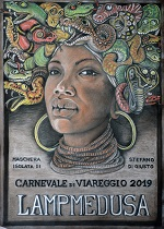 DI GIUSTO Stefano Lampmedusa maschera Carnevale di Viareggio 2019